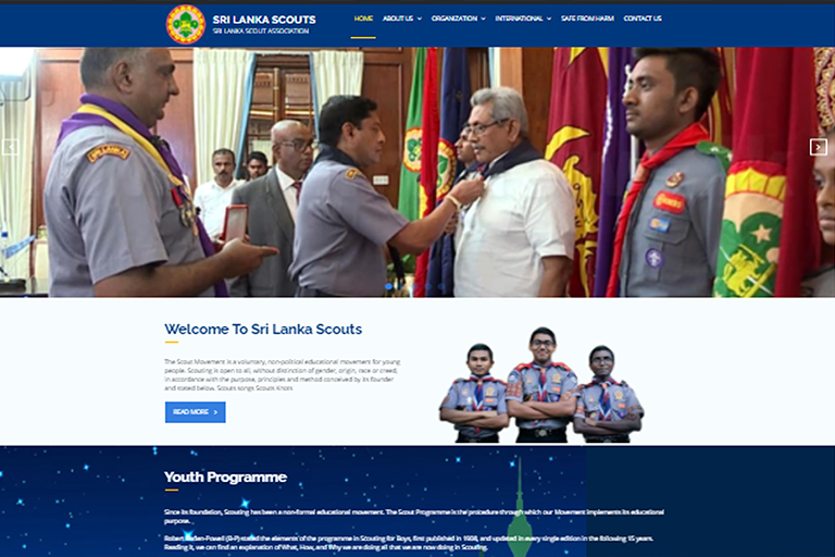 Website of Sri Lanka Scouts relaunched