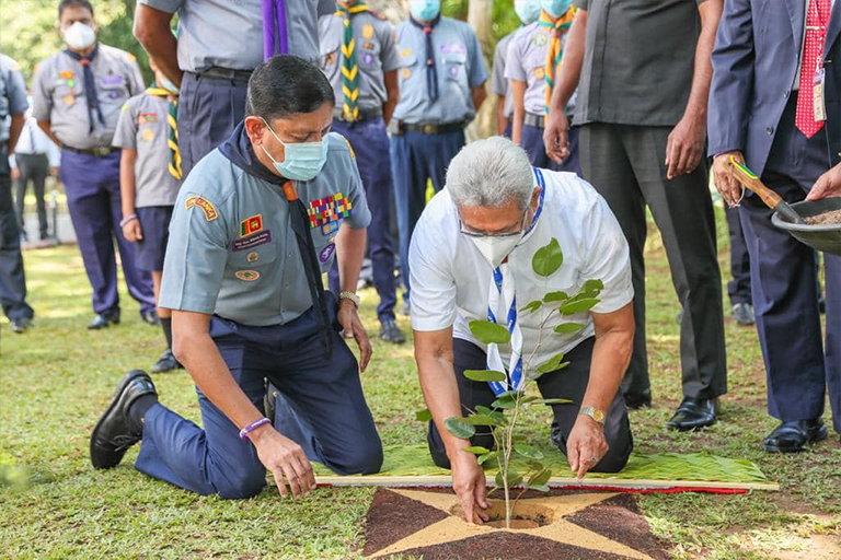 President inaugurates tree planting Project of Scout Founder's Day