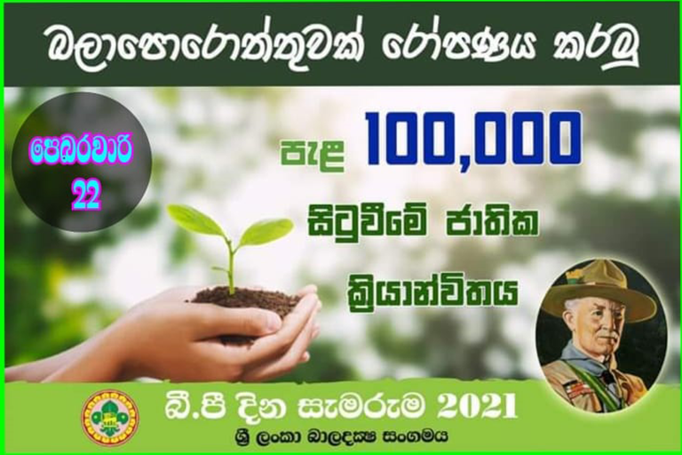 Scouts to plant 100,000 Trees on Baden Powell Day