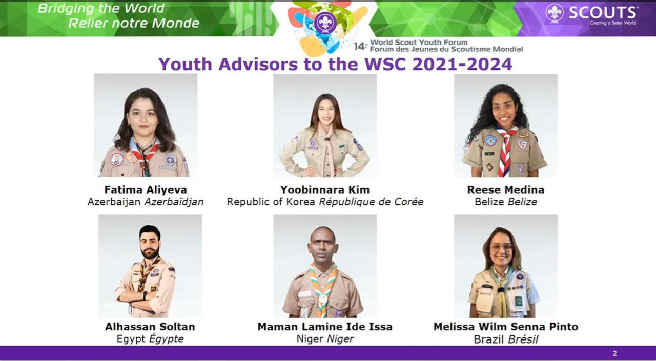 YOUTH ADVISORS TO WORLD SCOUT COMMITTEE ELECTED