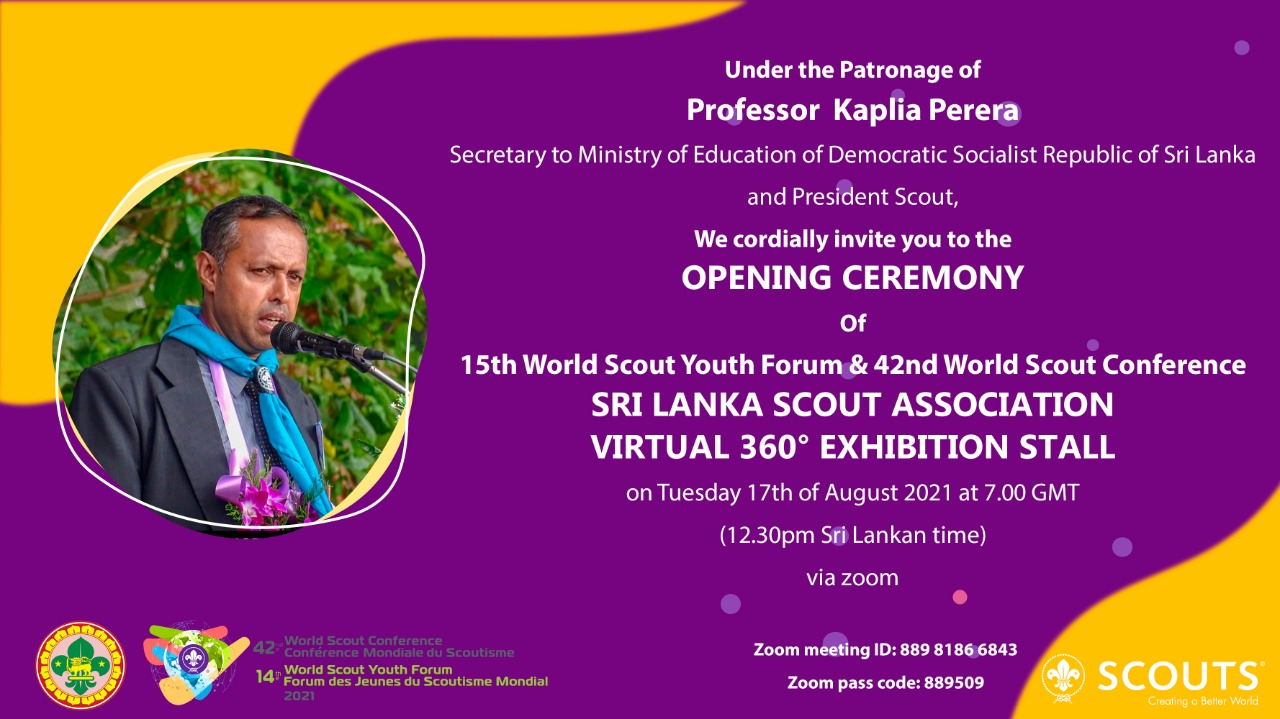 Education Secretary declares open Virtual Exhibition of Sri Lanka Scouts for World Scout Conference and Youth Forum
